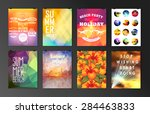 set of poster  flyer  brochure... | Shutterstock .eps vector #284463833