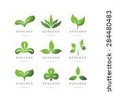 eco green logos vector set | Shutterstock .eps vector #284480483
