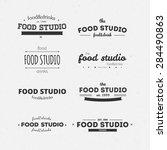 set of vector vintage logos.... | Shutterstock .eps vector #284490863