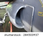 Small photo of The air-intake of a jet fighter.
