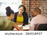 couple meeting with financial... | Shutterstock . vector #284518937