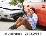 Teenage Driver Making Phone...