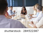 group of businesspeople meeting ... | Shutterstock . vector #284522387