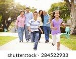 multi generation family walking ... | Shutterstock . vector #284522933