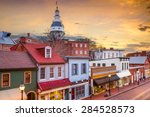 annapolis  maryland  usa... | Shutterstock . vector #284528573