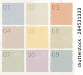 memo post it notes   retro... | Shutterstock .eps vector #284531333