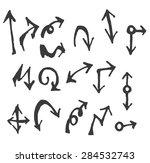 vector hand drawn arrows set... | Shutterstock .eps vector #284532743