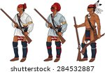 3 iroquois warriors with...   Shutterstock .eps vector #284532887
