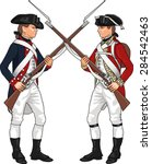american and british soldiers... | Shutterstock .eps vector #284542463