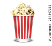 delicious realistic cinema... | Shutterstock .eps vector #284547383