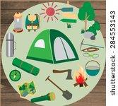 summer camp leisure park summer ... | Shutterstock .eps vector #284553143