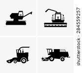 combine harvesters | Shutterstock .eps vector #284559257