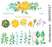vector floral set.colorful... | Shutterstock .eps vector #284559317