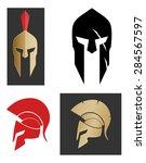 spartan helmet | Shutterstock .eps vector #284567597
