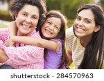 grandmother with granddaughter...   Shutterstock . vector #284570963