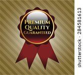 premium quality guaranteed red... | Shutterstock .eps vector #284581613