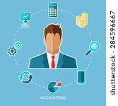 vector illustration of... | Shutterstock .eps vector #284596667