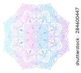 mandala   freehand drawing....   Shutterstock .eps vector #284600447