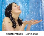 girl taking a shower | Shutterstock . vector #2846100