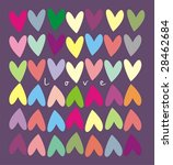 love background with heart | Shutterstock . vector #28462684