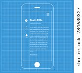 wireframe blueprint mobile app...