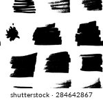 watercolor handdrawn seamless... | Shutterstock . vector #284642867