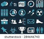 medical icon set. style ... | Shutterstock .eps vector #284646743