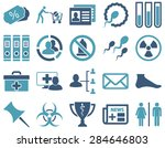 medical icon set. style ... | Shutterstock .eps vector #284646803
