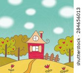 home sweet home background card | Shutterstock . vector #284656013