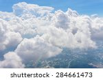 blue sky and white cloud view... | Shutterstock . vector #284661473
