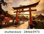 fushimi inari taisha shrine in...   Shutterstock . vector #284665973