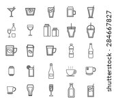 drink line icons on white... | Shutterstock .eps vector #284667827