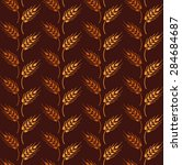 seamless vintage pattern with... | Shutterstock .eps vector #284684687