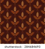 seamless vintage pattern with... | Shutterstock .eps vector #284684693