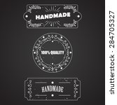 vector templates for handmade... | Shutterstock .eps vector #284705327