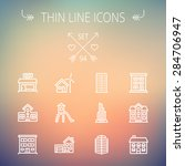 construction thin line icon set ... | Shutterstock .eps vector #284706947