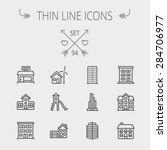 Construction Thin Line Icon Se...