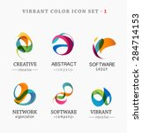 set of trendy abstract  vibrant ... | Shutterstock .eps vector #284714153