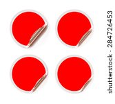 red stickers for sale or... | Shutterstock .eps vector #284726453