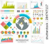 creative statistical... | Shutterstock .eps vector #284747117