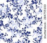 flower pattern   Shutterstock .eps vector #284755103