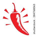 a red hot chilli | Shutterstock .eps vector #284768063