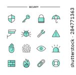 set of flat design  thin line...   Shutterstock .eps vector #284771363