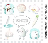 learn the color white  things... | Shutterstock .eps vector #284780003