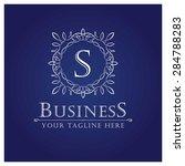 s letter luxury logo template...   Shutterstock .eps vector #284788283