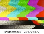 television screen with static... | Shutterstock . vector #284794577