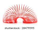red plastic spring toy isolated ... | Shutterstock . vector #28479595