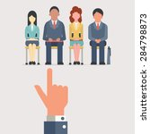 hand pointing to business... | Shutterstock .eps vector #284798873