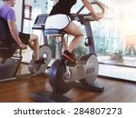 healthy couple training on a... | Shutterstock . vector #284807273