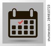 calendar flat icon   vector | Shutterstock .eps vector #284810723